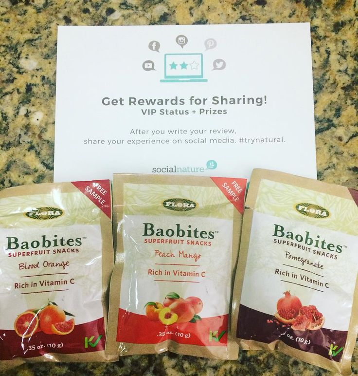 This free sample of #baobites are so yummy! You can add them to so many things or just eat them. #socialnature #trynatural