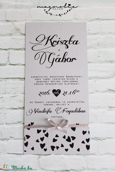 Esküvői meghívó, Naptár, képeslap, album, Képeslap, levélpapír, Meska