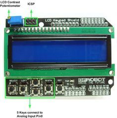 Arduino LCD KeyPad Shield (SKU: DFR0009) - DFRobot Electronic Product Wiki and Tutorial: Arduino and Robot Wiki-DFRobot.com