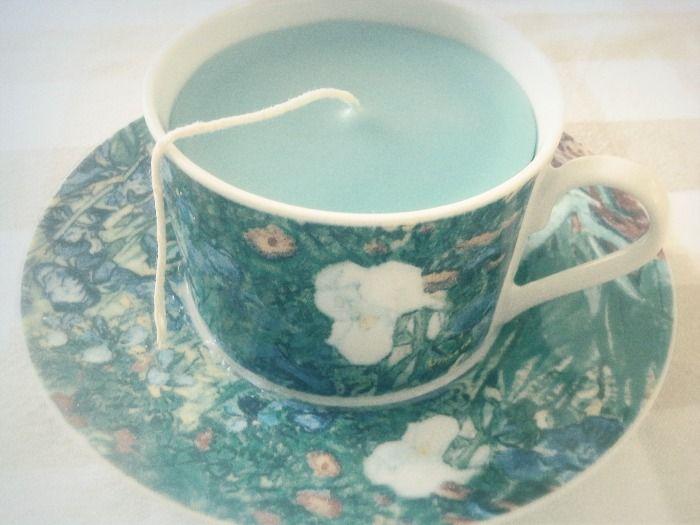 Van Gogh Teacup Candle