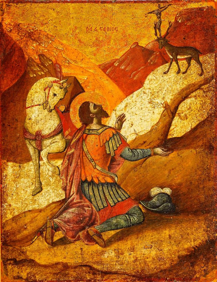 St.Eustacheus. Cretan 17th century. H.Korban collection
