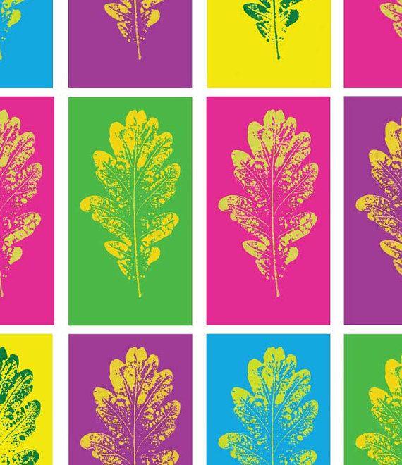 Pop-Art inspirierten druckbare Wandkunst - eine lustige, bunte Ergänzung zu Ihnen nach Hause.  Dieses eindrucksvolle Bild wurde erstellt von machen einen Druck aus einem gedrückten Eichenblatt, den ich gepflückt und drückte mich. Der Kunstdruck hat dann eingescannt und Digital mit einer lustigen Andy Warhol Pop-Art Gefühl verbessert.  Sie erhalten eine 8 x 10 Zoll hohe Auflösung 300 dpi-Datei zum download. Das Bildmaterial kann auf Papier im Format A4 oder US Brief gedruckt werden…