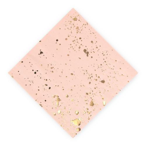 Gold Splash Cocktail Napkins - Small (Pack of 20)