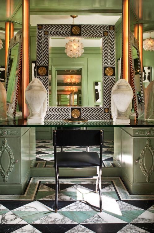 Kelly Wearstler Designed Vanity Area Mint Luxury
