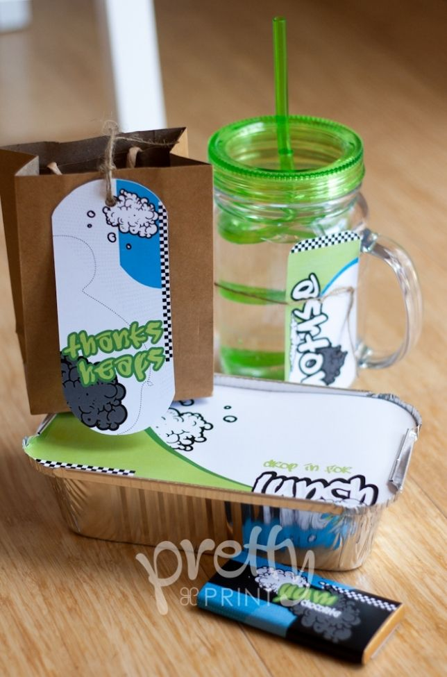 Boys Skateboard Birthday Party Favor Ideas Spaceshipsandlaserbeams