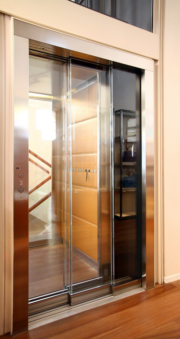 A Full Glass Wittur Hydra Elevator Door With Full Glass