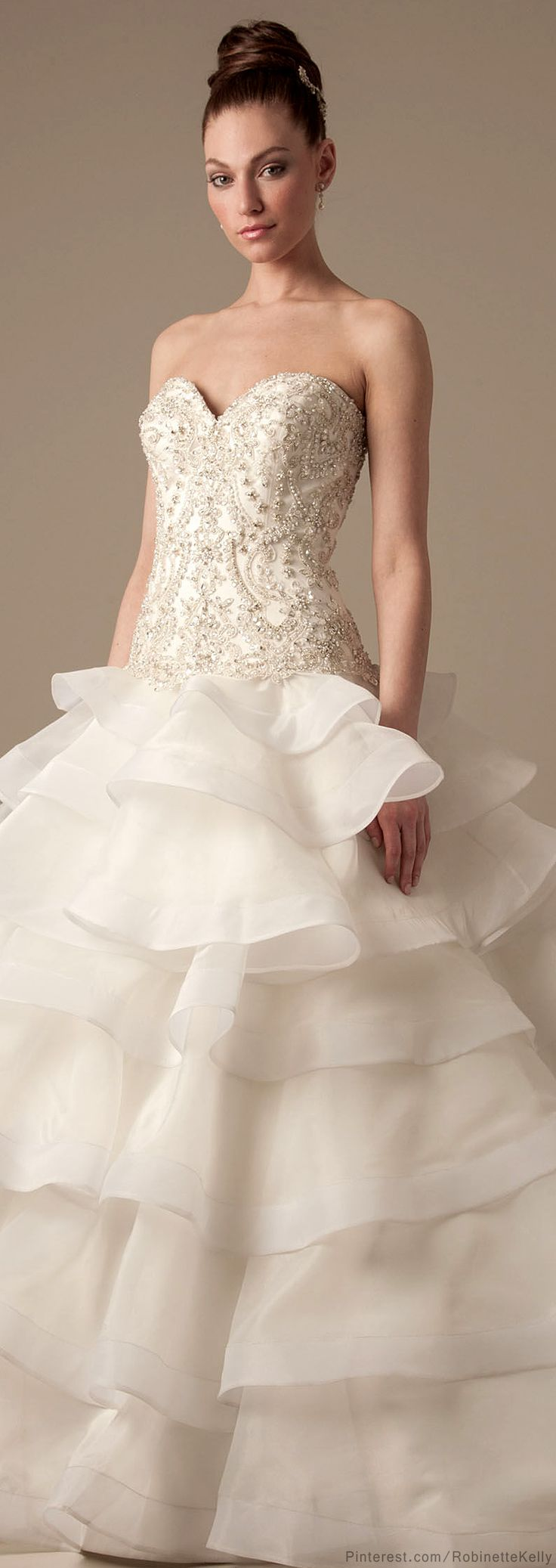 38 best Dennis Basso gowns images on Pinterest | Wedding frocks ...