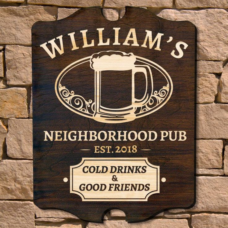 If your home bar serves as the watering hole for all your friends then you deserve the proper decor, courtesy of our Good Friends Gathered custom wall sign. Engraved with the name and year of your ...