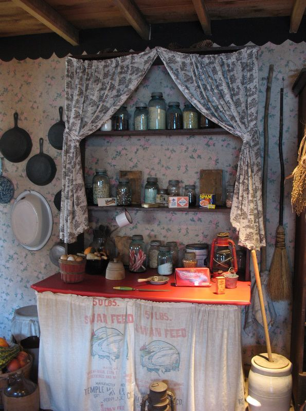 pantry area of the kitchen in Dolly Parton's childhood home