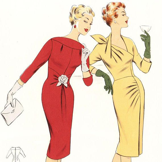 This vintage pattern-making system dates from Winter 1960. 54 different outfits for you to admire…. AND for you to draft as patterns to sew at home! The outfits include smart little suits, coats for all times of day, jackets and dresses, evening gowns, bridal wear – with the emphasis