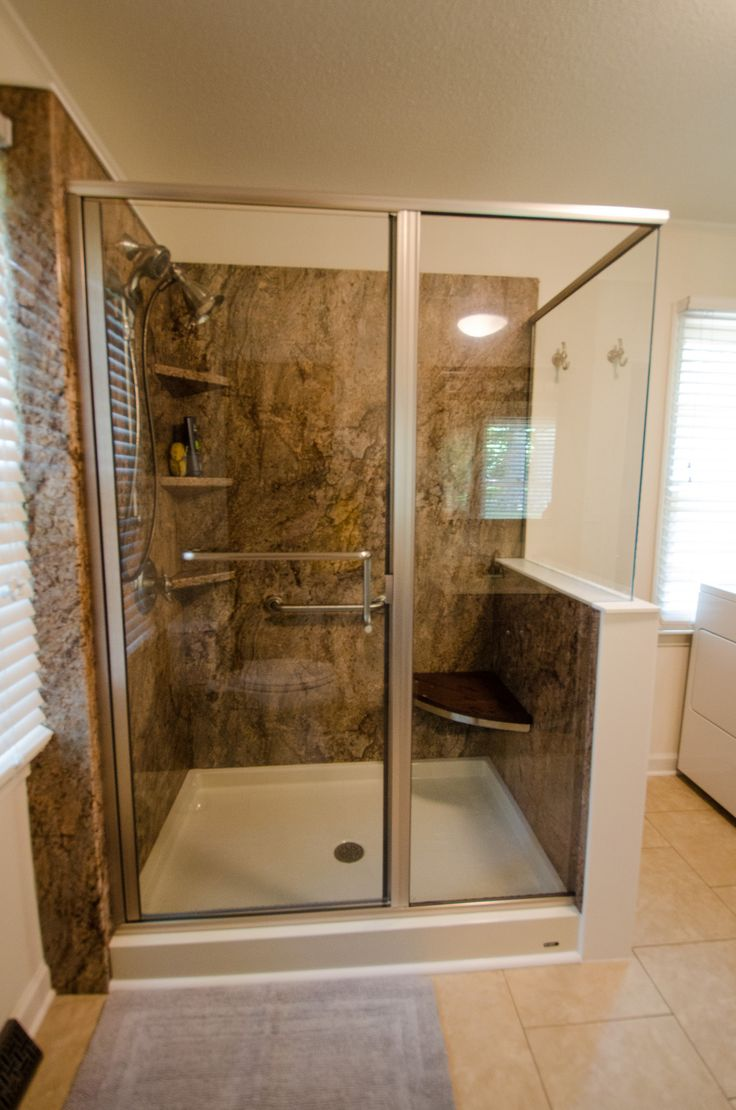 116 best images about re bath remodels on pinterest for All glass shower