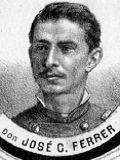 """José C. Ferrer, Subteniente participa y muere en el combate de La Oroya en 1883. Fuente: """"El Álbum de la Gloria de Chile"""" de B. V. Mackenna"""