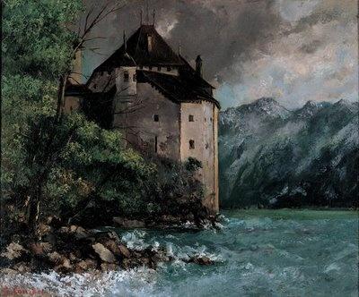 Gustave Courbet, Château de Chillon, 1873.