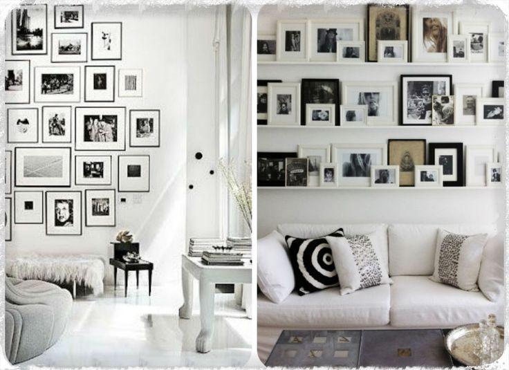 mur de cadres vs tag res de cadres show pictures and frames pi. Black Bedroom Furniture Sets. Home Design Ideas