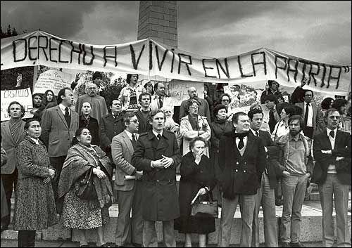 Primeras Protestas en Chile contra dictadura Militar, en 1985.