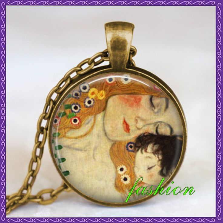 Mother child necklace
