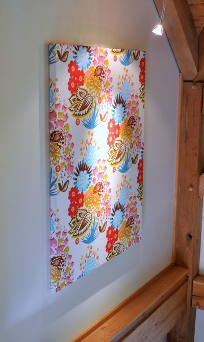 Fabric canvases... perfect for those prints that are almost too pretty to cut and sew...