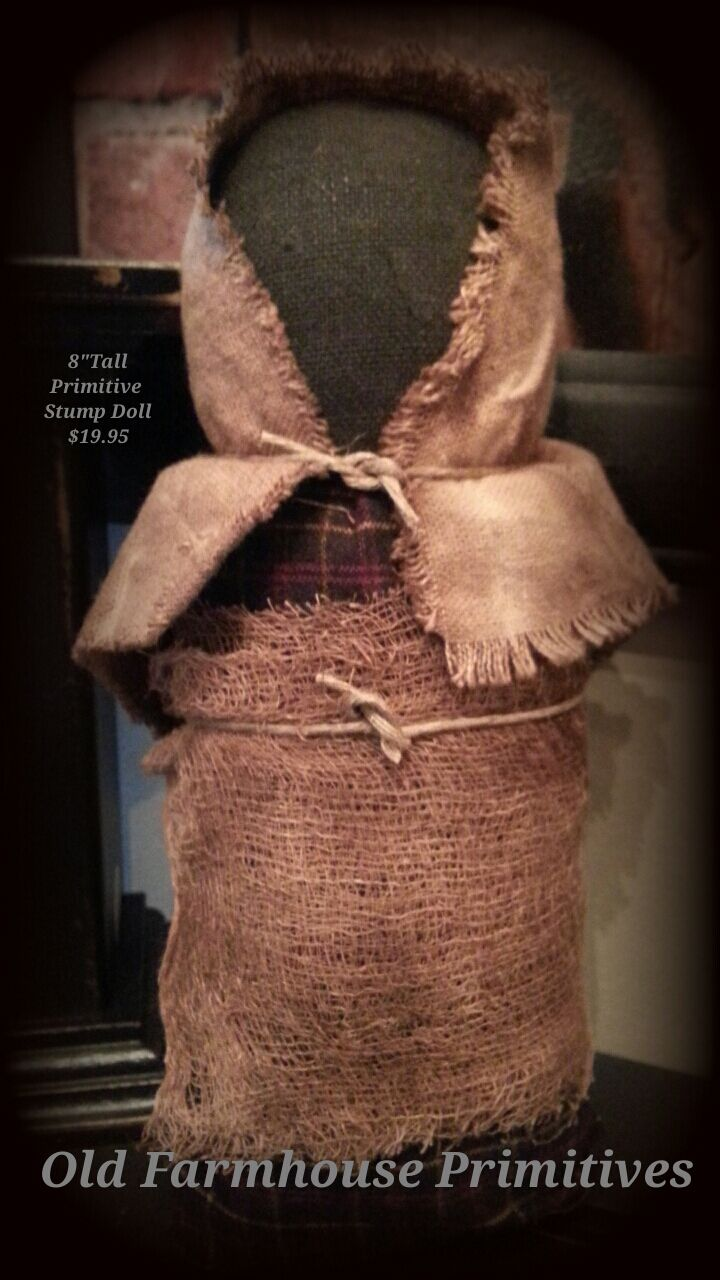 Primitive Handmade Stump Doll