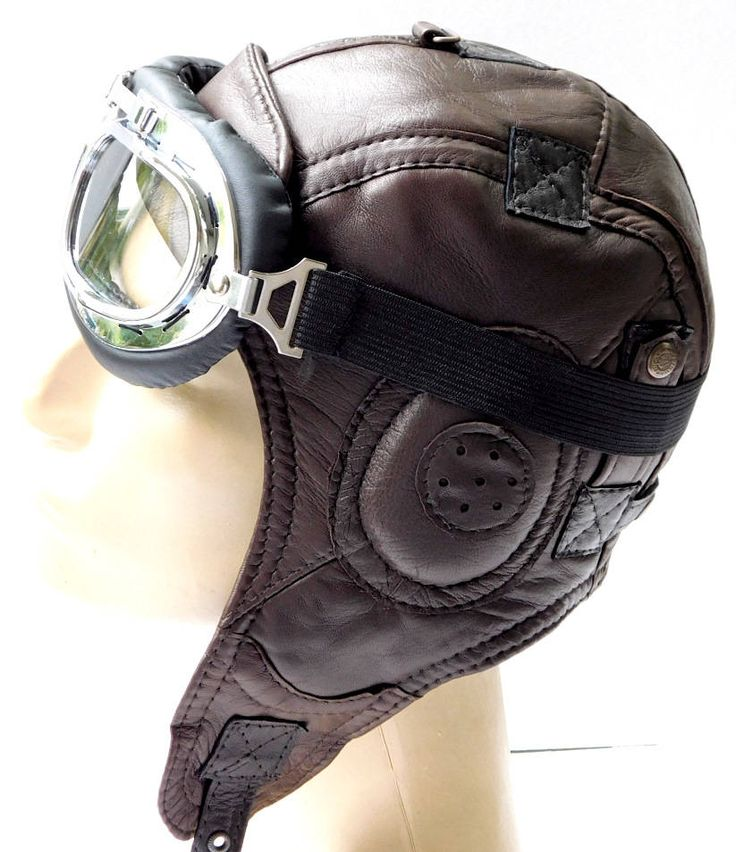 WWII Vintage style Handmade Genuine Leather Hat Pilot