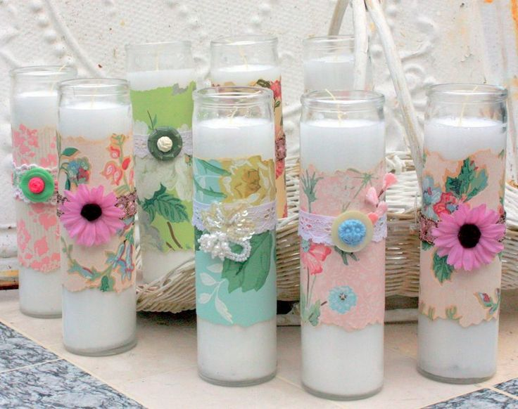 Dollar Store Candle Craft Tutorial