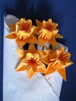 Origami Daffodil Folding Instructions