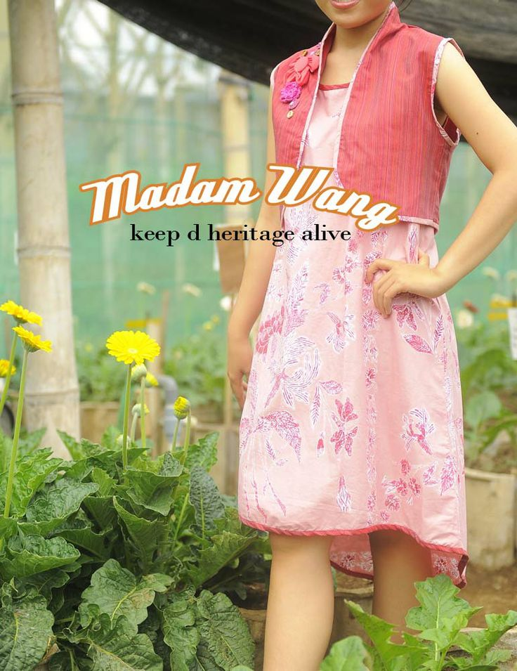 batik encim dress, pink batik dress