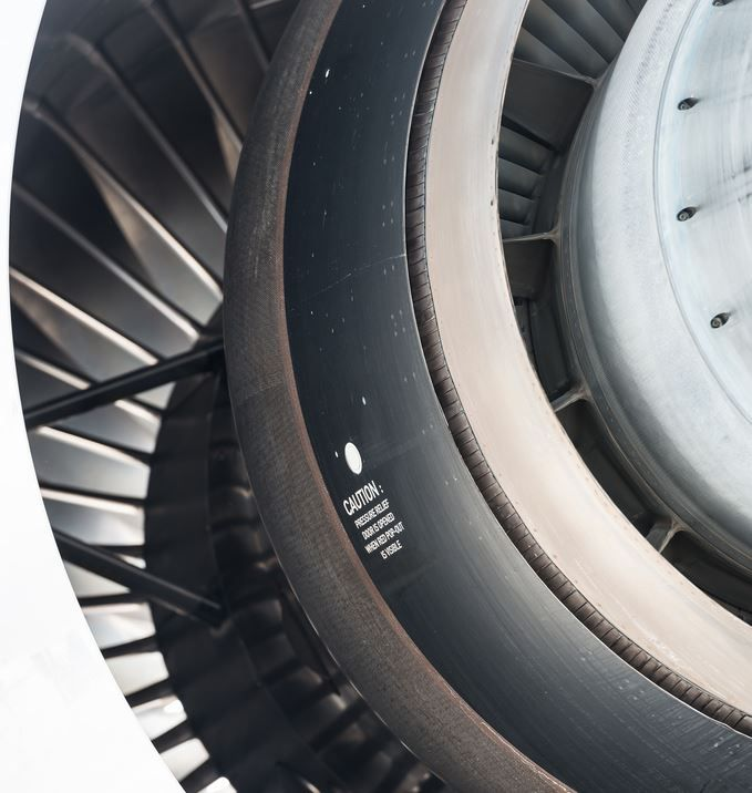 """a380flightdeck: """" Rolls-Royce Trent 970 turbofan from the rear end. You can see the light shine through the fan. """""""