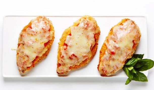 Cheesy and moist, this super-quick (less than 15 minutes) Chicken Parmesan  will leave you plenty of time to alphabetize the take-out menus.