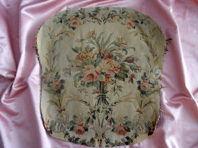 ANTIQUE FRENCH AUBUSSON TAPESTRY FLORAL DECOR
