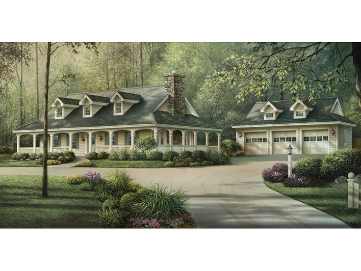 Shadyview country ranch home house plan 592 007d 0124 Country house plans with front porch