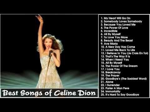 Best Songs of Celine Dion II Celine Dion's Greatest Hits [Full HD] - YouTube