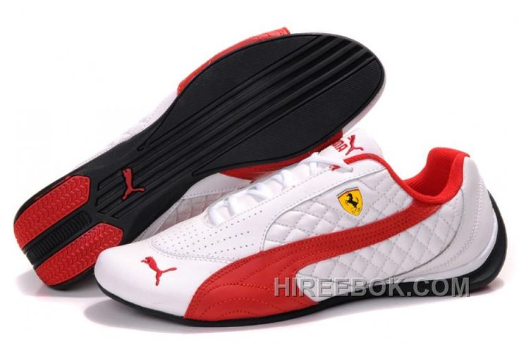 Mens Puma Wheelspin White Red Black Cheap To Buy