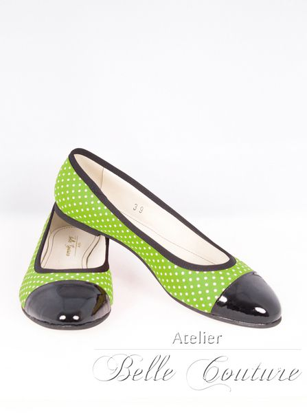Rockabella Ballerinas 2806 von Atelier Belle Couture 50er Jahre Petticoatkleider Rockabilly Kleider auf DaWanda.com