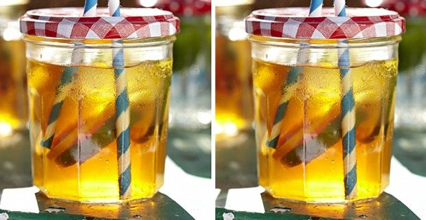 Sarah moore jam jar glasses..love this easy idea from Country Living UK....