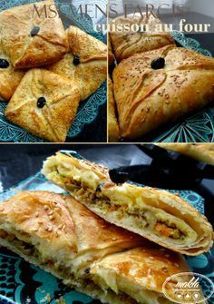 Msemens farcis à la viande hachée et aux légumes – cuisson au four   makla - La cuisine authentique