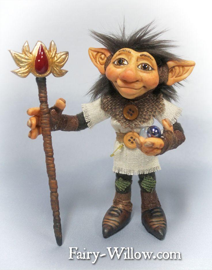 Crystal Guardian $125 http://fairy-willow.com/trolls.html#galwin