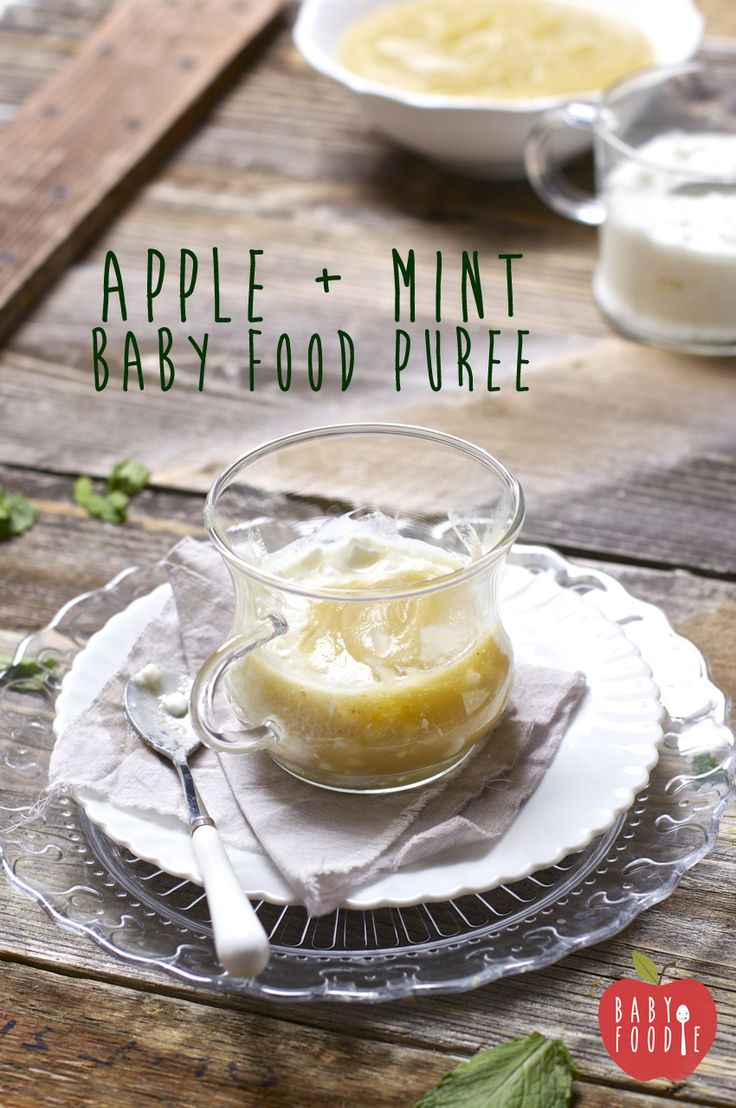 APPLE + MINT + COTTAGE CHEESE  4 organic apples [I used Fiji] 1/2 cup water 6 organic mint leaves 1 cup organic full fat cottage cheese