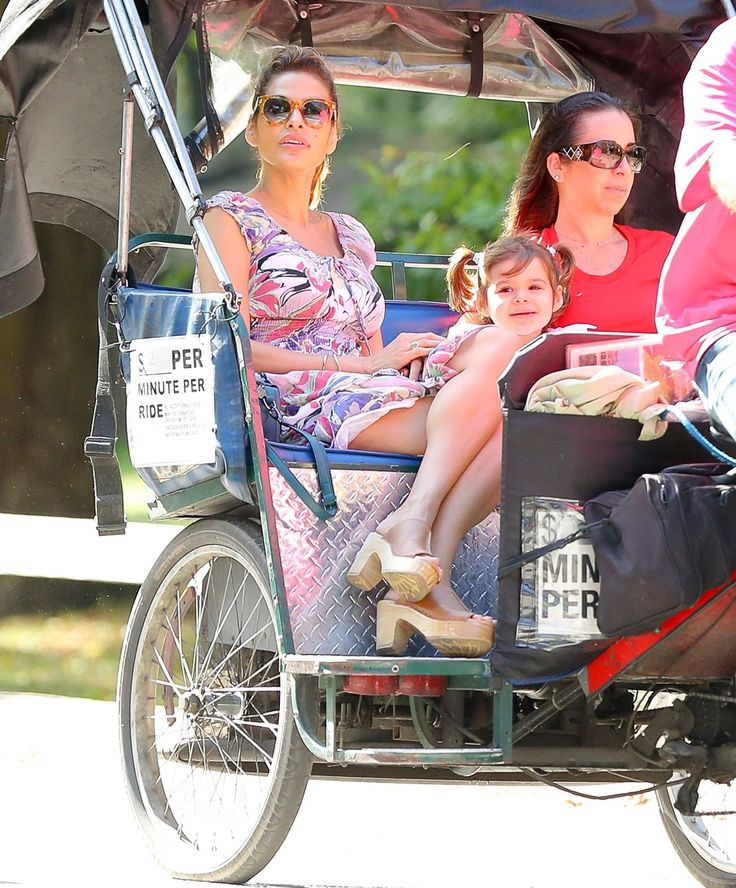 Eva Mendes Takes a Ride with Her and Ryan Gosling's Daughter - HarpersBAZAAR.com