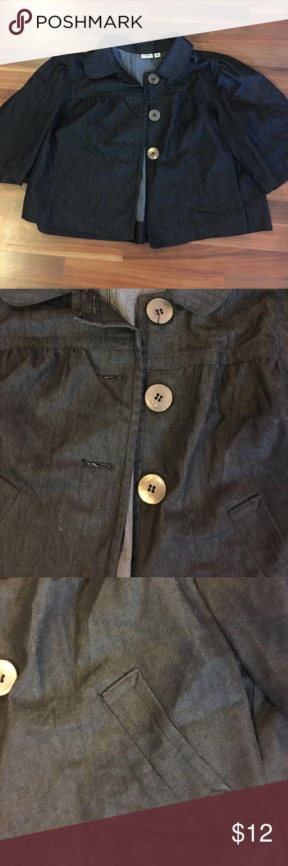 Cato denim style dressy jacket 18/20 Preowned- mild wear Cato Jackets & Coats