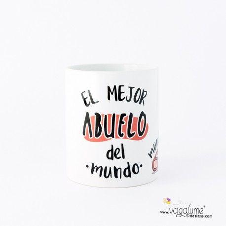 Taza regalo desayuno café té mañanas el mejor abuelo del mundo mundial con diseño gafas