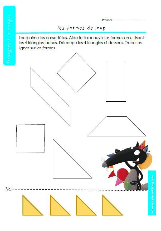 Prolongement : 4 triangles
