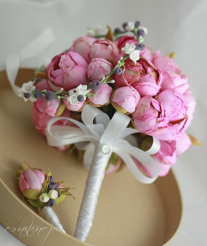 wedding bouquet - silk foam