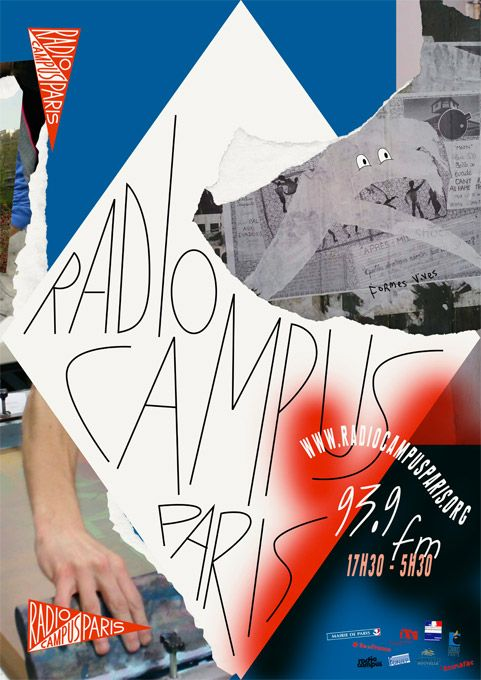 Formes Vives, affiche pour Radio Campus Paris, A2, offset quadri, impression Onlineprinters, octobre 2014