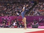 Aly Raisman's Gold Medal Floor Routine.... that first pass. gahhhh