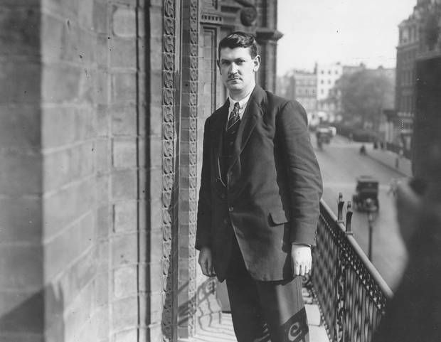 Irish nationalist politician, soldier and Sinn Fein leader Michael Collins (1890 - 1922) in London for the treaty negotiations between representatives of Sinn Fein and the British government which resulted in the Anglo-Irish Treaty of December 1921
