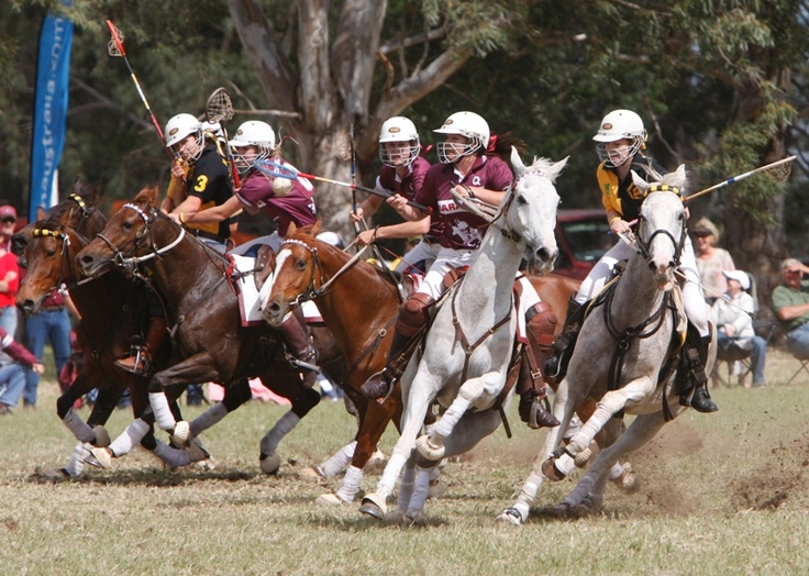 Australia - Polocrosse, one of only three officially Australian-developed sports. The other two are Aussie Rules and Campdrafting.