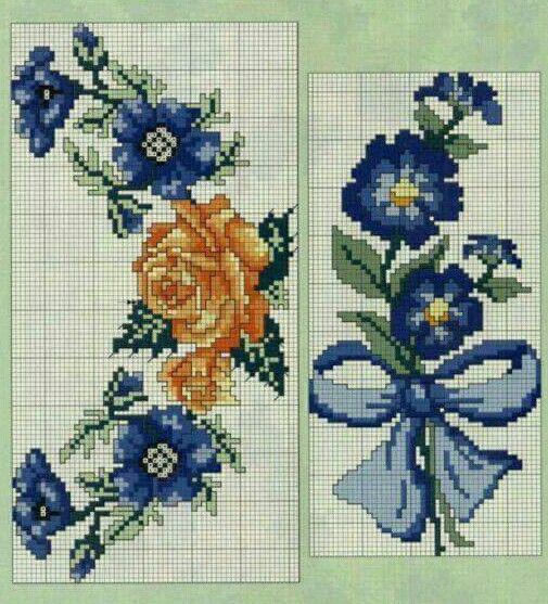 #crossstitch #kanaviçe #mavi #çiçekler #sarı #gul #blue #flowers #yellow #rose #kurdele