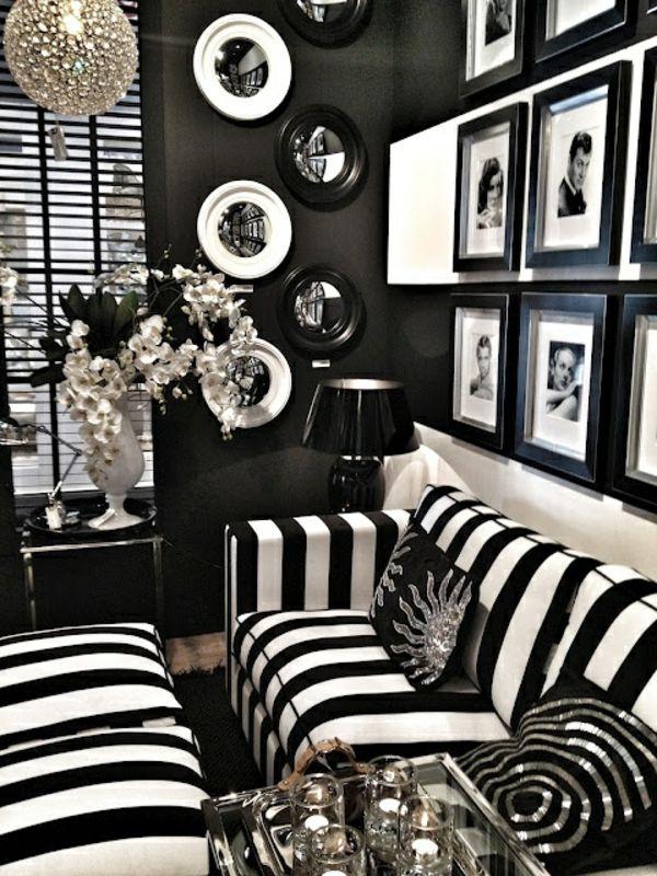Die besten 25+ Schwarze tapete Ideen auf Pinterest schwarzer - wohnzimmer schwarz weis orange