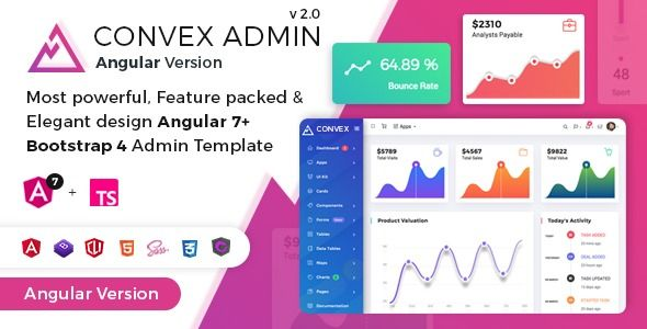 Convex Angular Bootstrap Admin Dashboard Template Dashboard Template Templates Folder Organization