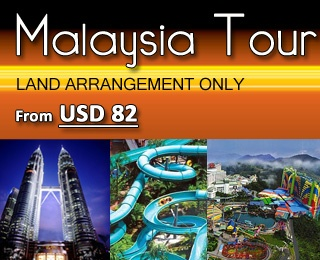 Malaysia Tour (land arrangement only). Price starting from USD 82. Available until 31 March 2013. Visit King Palace, Independent Square, National Mosque, National Monument, Twin Tower, etc. Contact us 021 231 6306 for booking and more information.